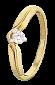 Кольцо из серебра с фианитом Лолита 000025606