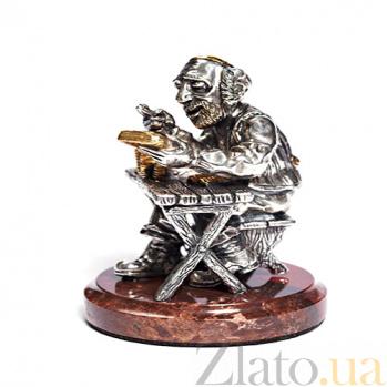 Серебряная статуэтка с позолотой Ростовщик 1341