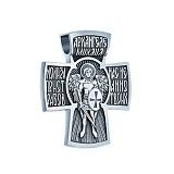 Серебряный декоративный крест Архангел Михаил