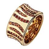 Золотое кольцо с бриллиантами Модный принт