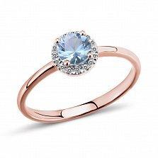 Золотое кольцо Памела с топазом и бриллиантами