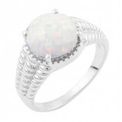 Серебряное кольцо Женевьева с опалом
