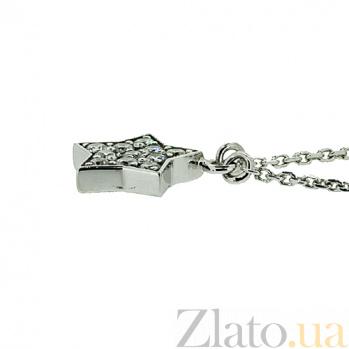 Серебряная подвеска с цирконием Звезда ZMX--PCz-00201-Ag_K
