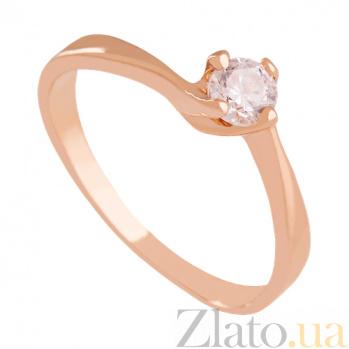Кольцо из красного золота с фианитом Divine VLN--212-786