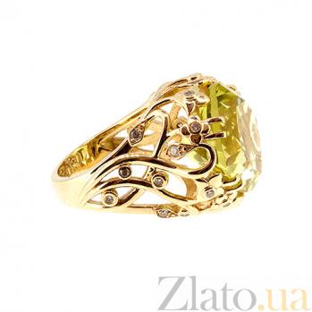 Золотое кольцо с бриллиантами и лимонным топазом Zlata ZMX--RDTy-00257y
