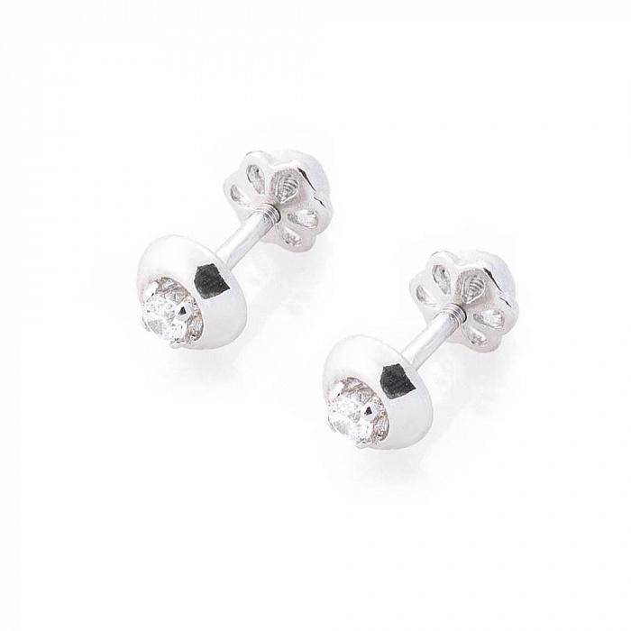 Серебряные серьги-пуссеты Фотина с цирконием 000080221