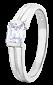 Серебряное кольцо с фианитом Кира 000025717