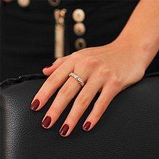 Золотое кольцо с бриллиантами Ровена
