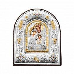 Икона Святые защитники с серебрением
