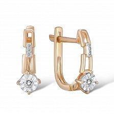 Серьги из золота с бриллиантами Летиция