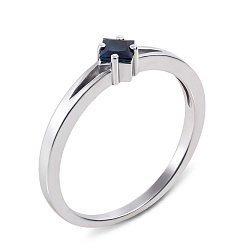 Кольцо из белого золота с сапфиром 000131385