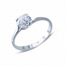 Серебряное кольцо с цирконом Нежность