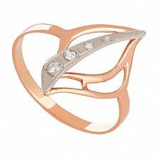 Кольцо из золота с фианитами Апликация