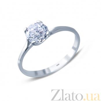 Серебряное кольцо с цирконом Нежность AQA--10101