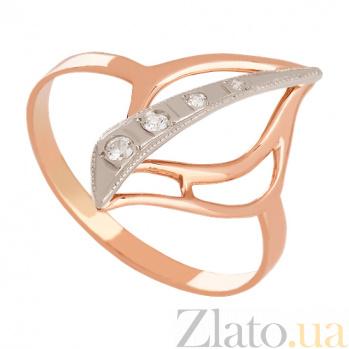 Кольцо из золота с фианитами Апликация VLN--212-109