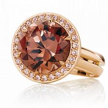 Кольцо Argile-Z с раухтопазом и бриллиантами
