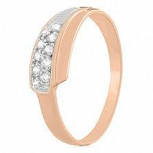 Серебряное кольцо с фианитами Хилари