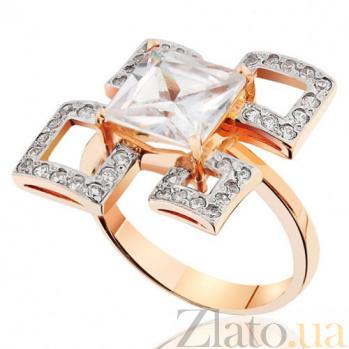 Золотое кольцо с цирконием Геометрия EDM--КД0348