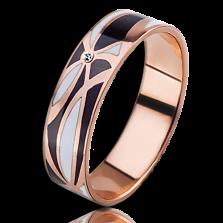 Золотое обучальное кольцо Полночь в Париже с бриллиантами (женское)