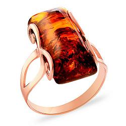 Кольцо из золота с янтарем Белинда