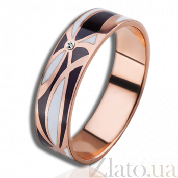 Золотое обучальное кольцо Полночь в Париже с бриллиантами (женское) PRT--WR1604W