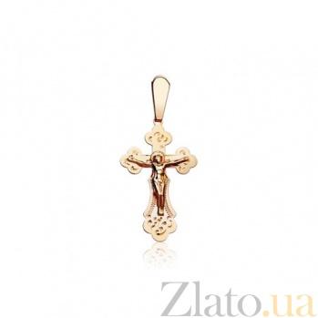 Золотой крестик с распятием Взгляд EDM--КР0110