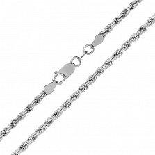 Серебряная цепь Шанхай с родированием, 1,5 мм