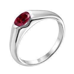 Золотое кольцо из белого золота с рубином 000021221