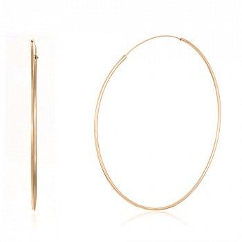Срібні сережки-кільця з позолотою 000057246