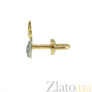 Золотые серьги с бриллиантами Сердце ангела ZMX--ED-00260y_К