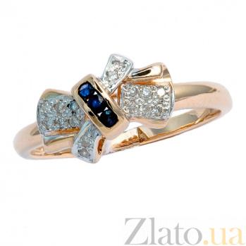 Золотое кольцо в красном цвете с бриллиантами и сапфирами Витана ZMX--RS-2278_K