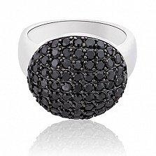 Серебряное кольцо Ночь с кристаллами Swarovski