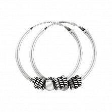 Серебряные серьги Джиотсана