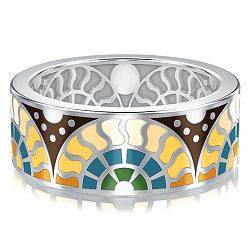 Мужское обручальное кольцо из белого золота Талисман: Счастья 000009982