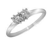 Кольцо из белого золота Эмма с бриллиантами