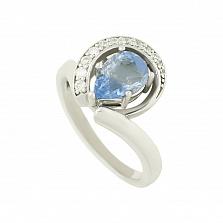 Серебряное кольцо с флюоритом и цирконием Делисия