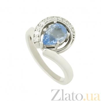 Серебряное кольцо с флюоритом и цирконием Делисия 3К846-0222