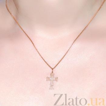 Золотой крестик Истинная элегантность SVA--3101551101/Фианит/Цирконий