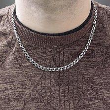 Серебряная цепочка Антуан в плетении бисмарк, 5,5мм