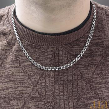Серебряная цепочка Антуан в плетении бисмарк, 5,5мм 000101112