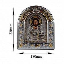Икона Иисус Спаситель на деревянной основе, 18х22см