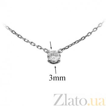 Золотое колье с бриллиантом Elizabeth 000026812