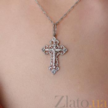 Серебряный крестик Светлые небеса 000030709