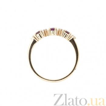 Кольцо из красного золота с рубином и бриллиантами Сандра ZMX--RR-6658_K