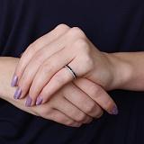 Серебряное кольцо Полярность с фианитами