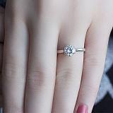 Серебряное кольцо с фианитом Болеро
