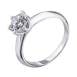 Серебряное кольцо с цирконием 000139909