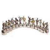 Набор серебряных штрафных рюмок Казаки