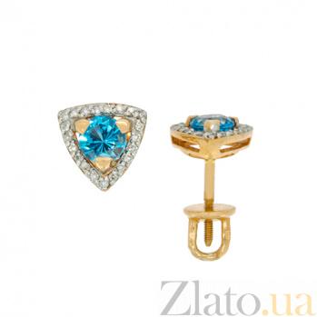 Золотые серьги с бриллиантами и топазами Таира ZMX--ET-6686_K