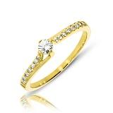 Кольцо из желтого золота Линдси с бриллиантами